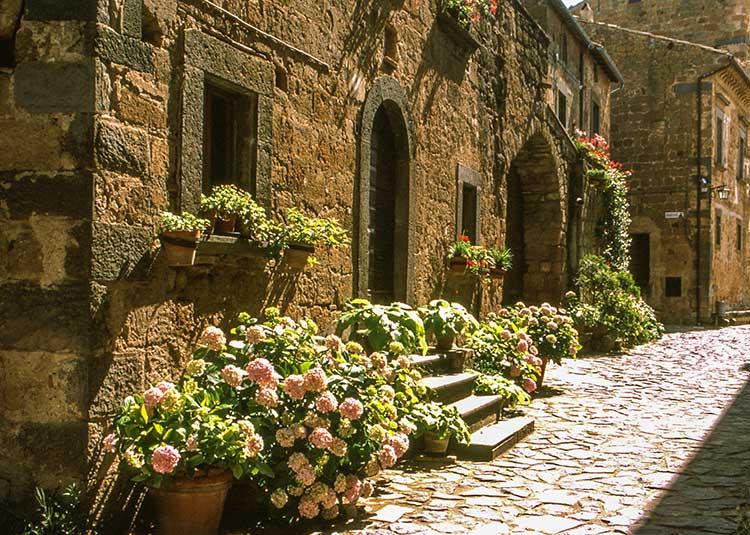 A Civita di bagnoregio il presepe più bello d'Italia.