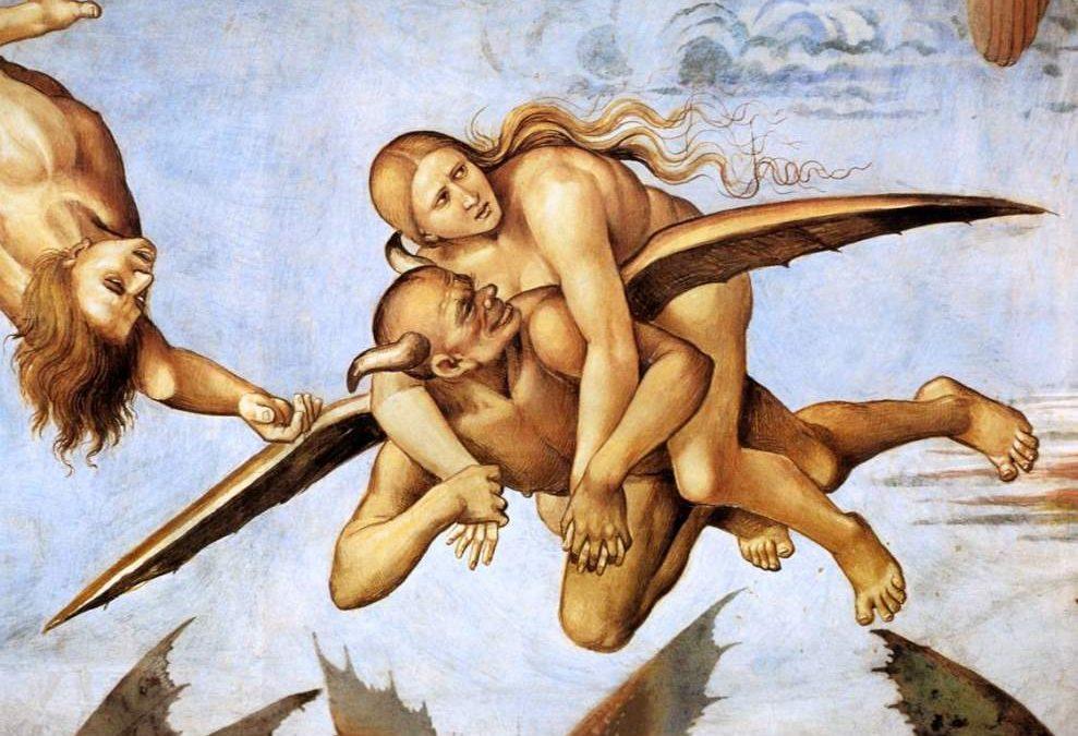 L'amante non corrisposta di Luca Signorelli ? Dipinta nuda sopra il diavolo !