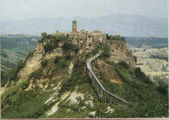 Civita di Bagnoregio, near Rome, was founded by the Etruscans in the 8th century