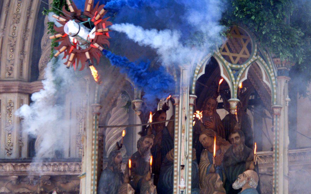 Orvieto celebrates the amazing festival of the Palombella.
